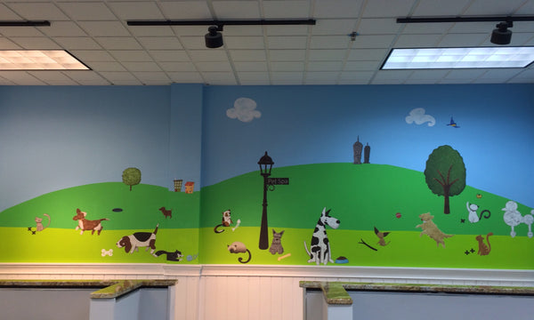 Pet Salon Mural