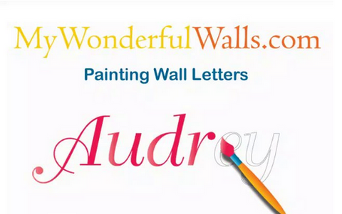 How to Create Your Own Wall Lettering