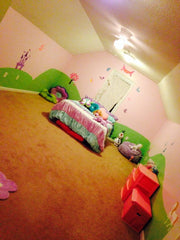 Princess Themed Bedroom Mural