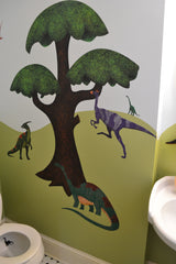 Dinosaur Wall Stickers for Kids Bathroom