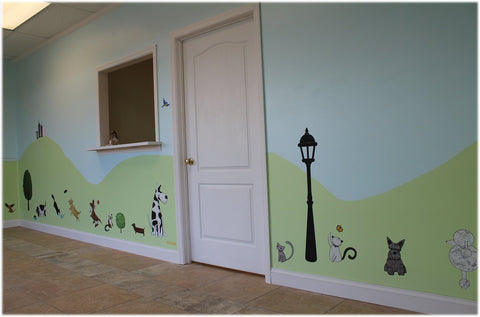 Pet Spa Ready To Open In Style With Dog And Cat Themed Wall