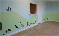 Dog and Cat Wall Mural