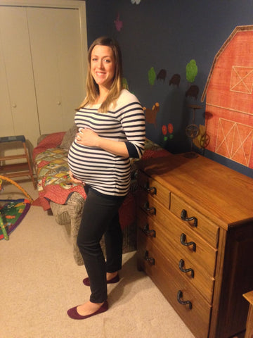 Expectant Mother Erika in New Playroom