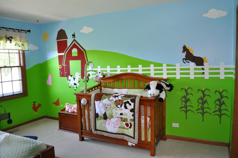 Farm Themed Mural for Kids Room