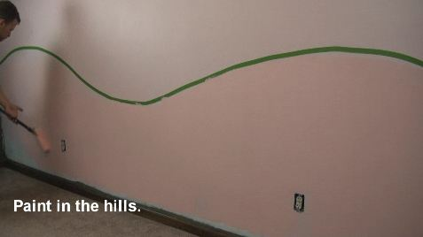 DIY Wall Mural With Hill