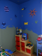 Space Themed Boys Room