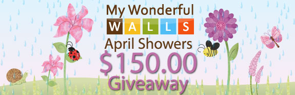 My Wonderful Walls April Showers Giveaway