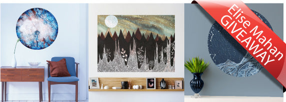 Win an Elise Mahan Astronomy Art and Nature Inspired Wall Sticker Now! Giveaway Ends 11/6!