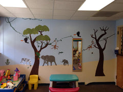 Jungle Themed Wall Mural
