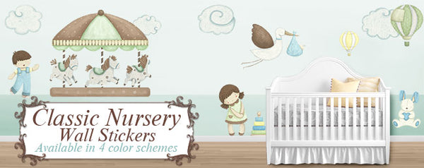classic nursery wall stickers