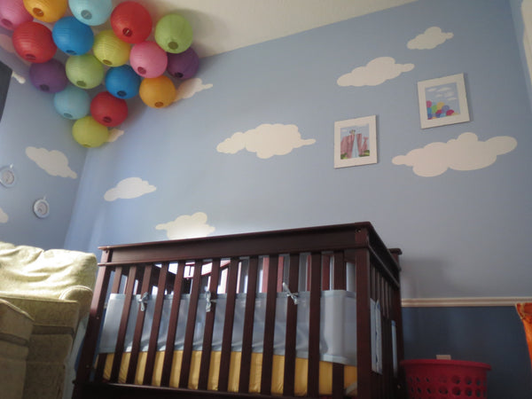 Sky is the Limit with Cloud Wall Stencils for UP Themed ...