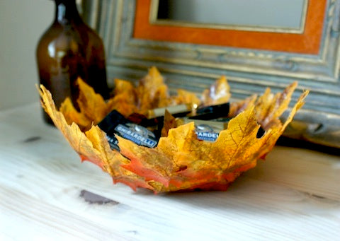 Autumn Leaf Bowl DIY