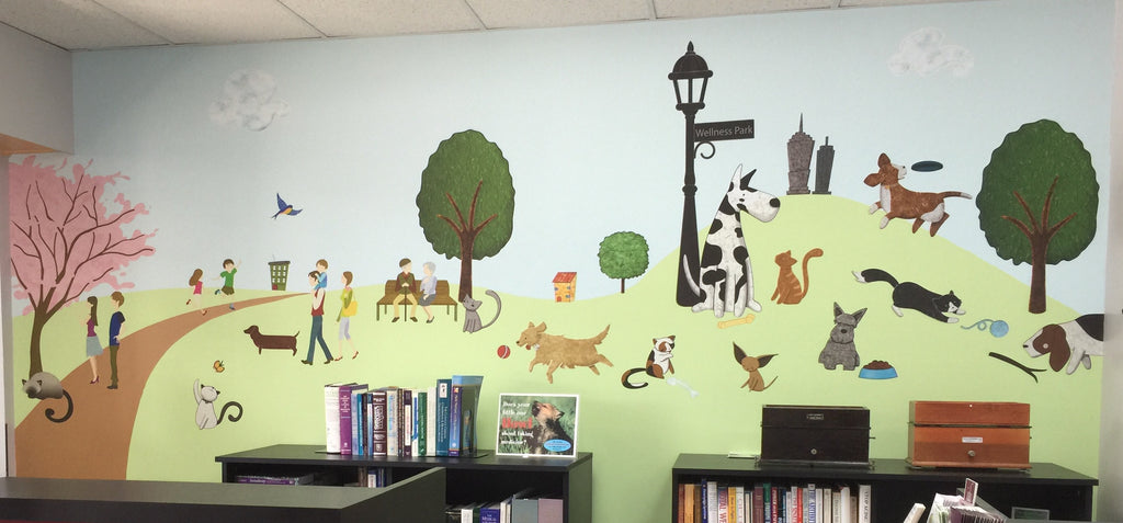Pharmacy Puts People and Pets First With Paws Park Wall Mural