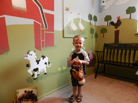 farm theme wall mural