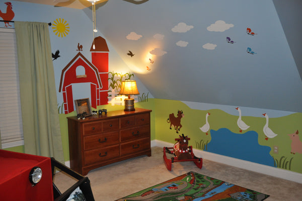 Boys Farm Themed Room