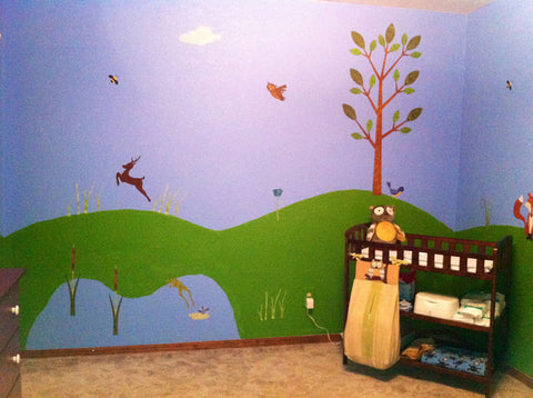 forest theme wall mural
