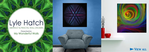Announcing New Fractal Art Digital Art Wall Decals - Meet the Artist Lyle Hatch
