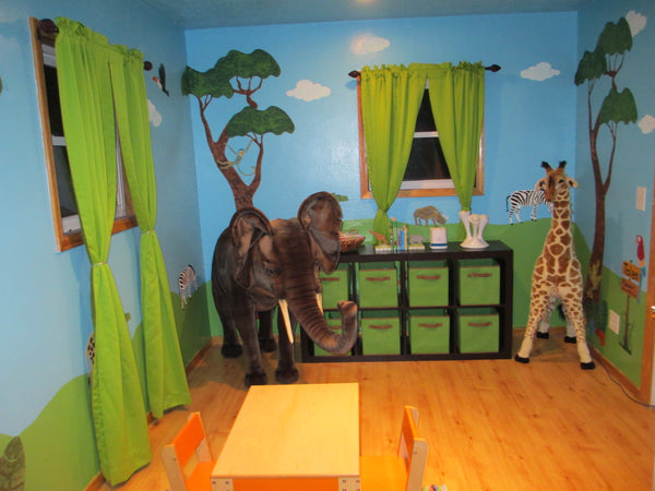 Jungle Safari Kids Mural