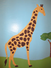 Giraffe Wall Stencil for Kids Room