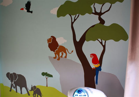 lion jungle mural