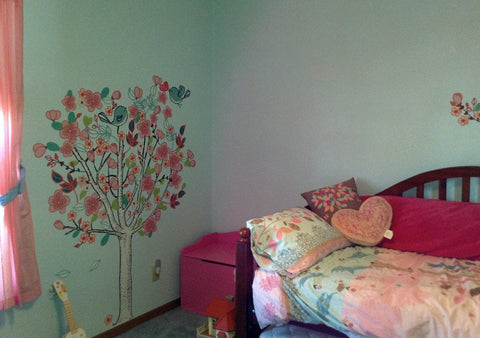 Tree Wall Mural for Girls Room