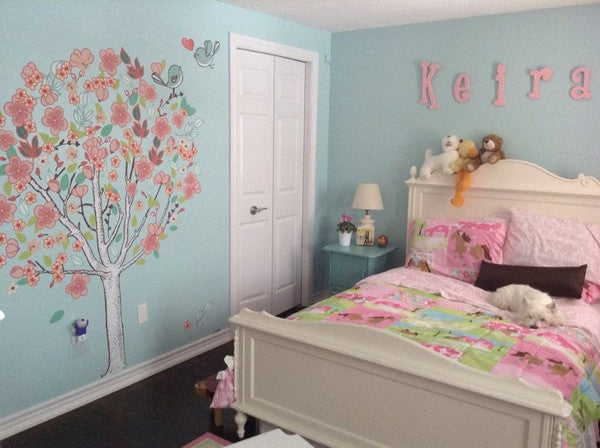 Spring Love Tree Wall Mural