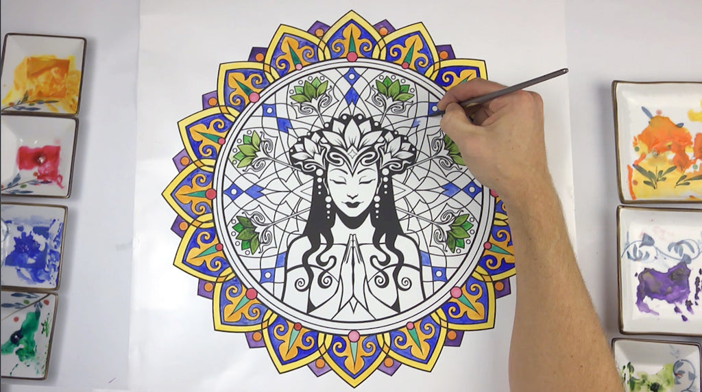 Serenity Mandala ColorMe Decal by Cristina McAllister