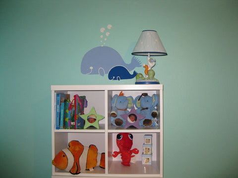 Whale Family Wall Mural