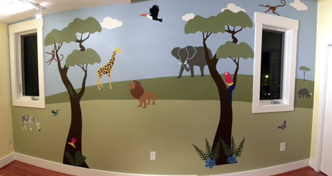 Jungle Themed Nursery Mural