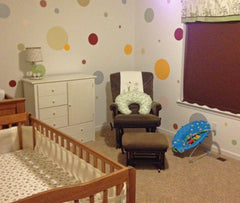 Polka Dot Wall Mural for Nursery