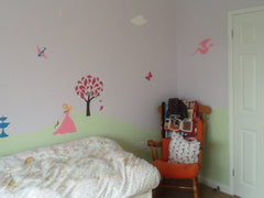 Princess Girls Room Mural