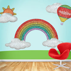 rainbow wall sticker decal