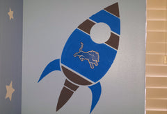 Rocket Ship Stencil for Murals