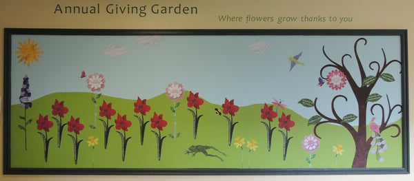Annual Giving Garden Mural Growing at The Centers at St. Camillus