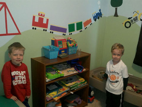 Dinosaur and Train Room Makeover