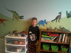 dinosaur boys room wall mural