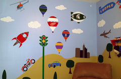 Train Themed Boys Room