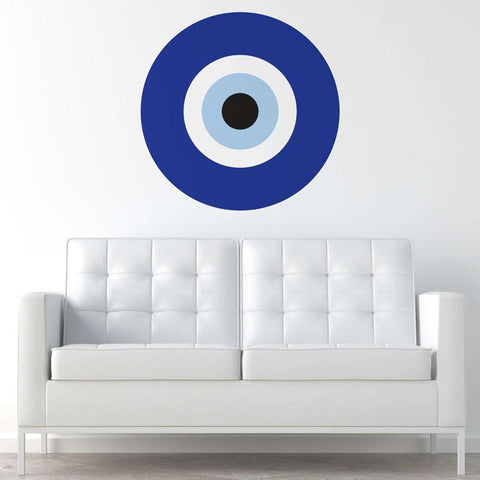 Blue Evil Eye Wall Sticker Decal – My Wonderful Walls