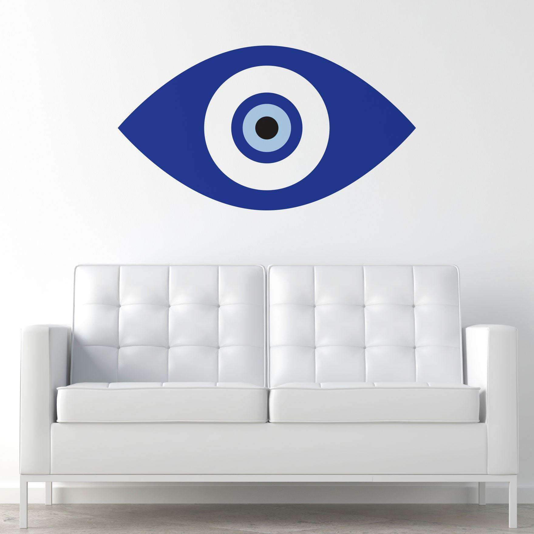 Blue evil eye wall sticker decal my wonderful walls amipublicfo Image collections