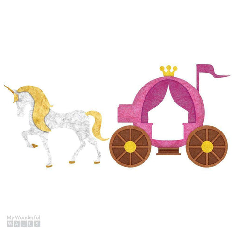 Unicorn and Carriage Sticker Set