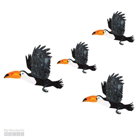 Flying Toucan Bird Wall Stickers