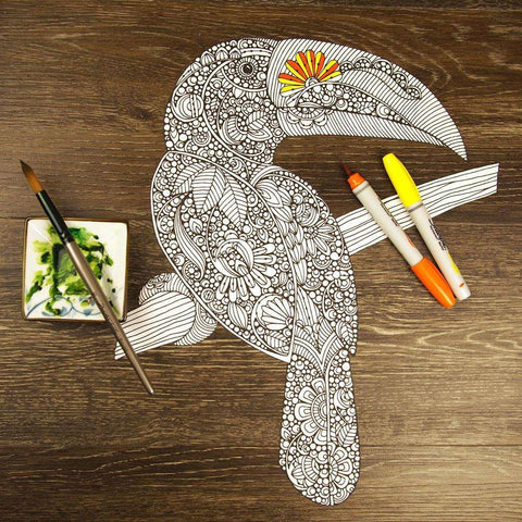Toucan ColorMe Decal by Valentina Harper