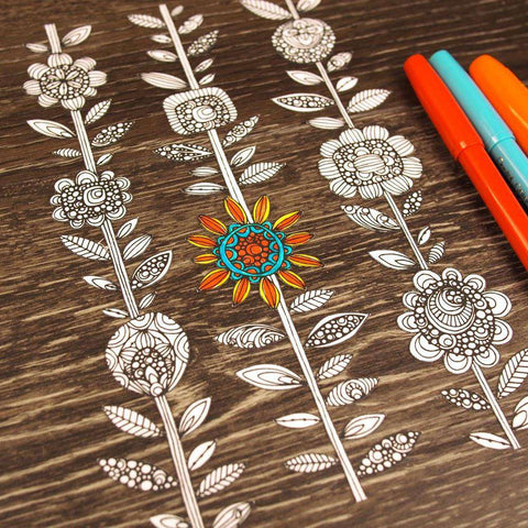 Daisy Chain ColorMe Decal by Valentina Harper