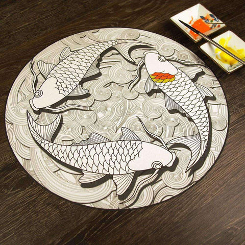 Koi Pond Mandala ColorMe Decal