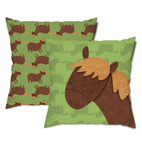 Charlie Horse Throw Pillow
