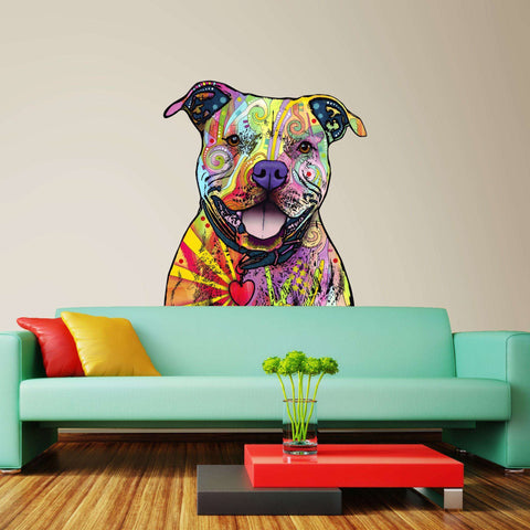 Beware of Pit Bulls Wall Sticker Cut Out - Animal Pop Art by Dean Russo