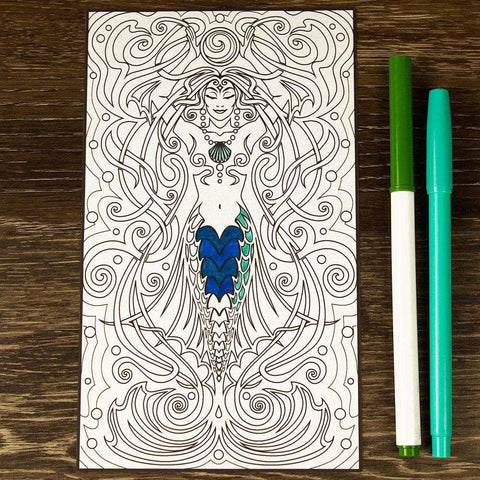 Mermaid Water Spirit ColorMe Decal by Cristina McAllister