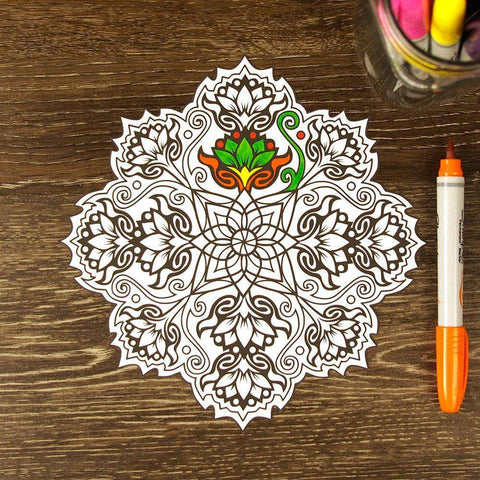 Lovely Lotus ColorMe Decal Mandala by Cristina McAllister