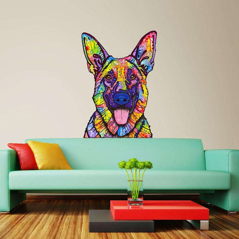 Dogs Never Lie German Shepherd Wall Decal Cut Out - Animal Pop Art by Dean Russo