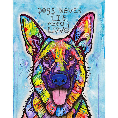 Dogs Never Lie German Shepherd Wall Sticker Decal - Animal Pop Art by Dean Russo